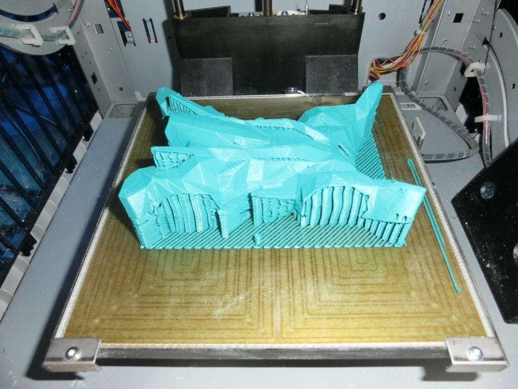 3Dプリンターで出力したときの側面からの様子
