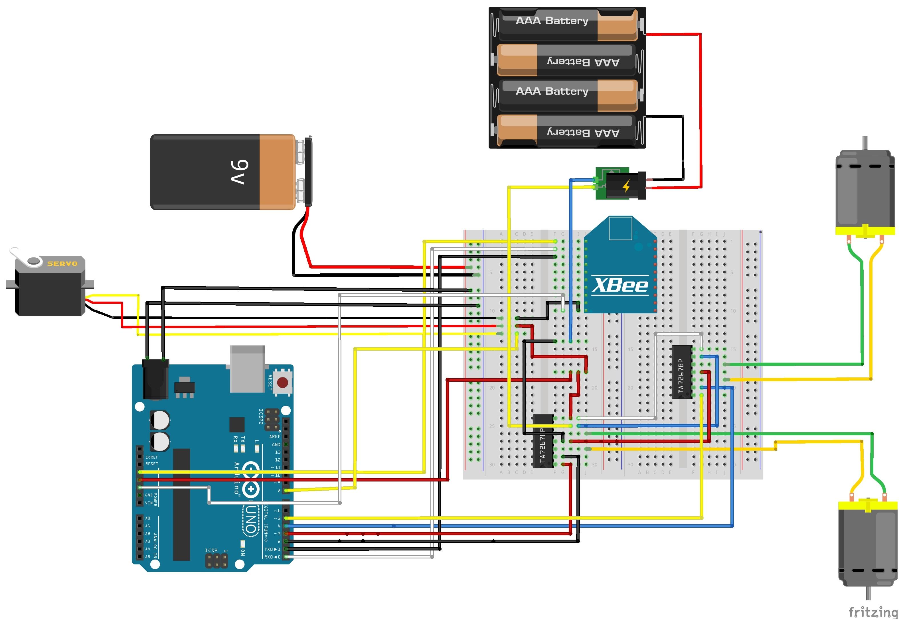Arduinoとxbeeとnode jsを使用してweb画面からラジコンを操作できるようにしてみた