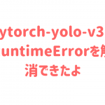 pytorch-yolo-v3のRuntimeErrorを解消できたよ
