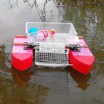 海や川でゴミ回収できるロボットを作る